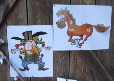 Une Chasse au Trésor - cowboy indien - affiches