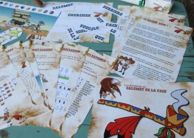 Une Chasse au Trésor - cowboy indien - indices, énigmes et défis