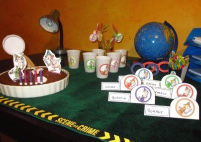 Une Chasse au Trésor - enquête détective - décoration table