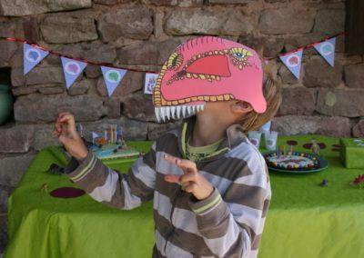 Une Chasse au Trésor - aventure dinosaure - masque T-Rex