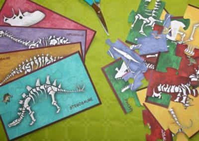 Une Chasse au Trésor - aventure dinosaure - casse-tête puzzle