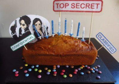 Une Chasse au Trésor espion 4 5 6 7 8 9 10 ans - décoration gâteau