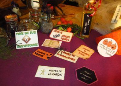 Une Chasse au Trésor - Halloween - étiquettes ingrédients secrets