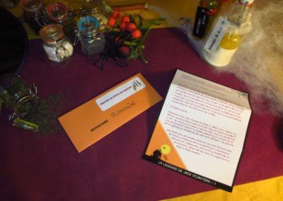 Une Chasse au Trésor - Halloween - lettre scénario