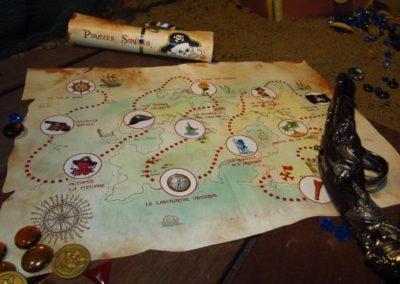 Une Chasse au Trésor - pirate sirène - carte au trésor