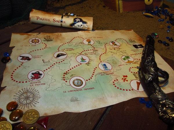 chasse au trésor 9 ans pirate sirène - Une Chasse au Trésor