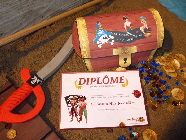 chasse au trésor pirate sirène - diplôme - Une Chasse au Trésor
