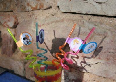 Une Chasse au Trésor - princesse chevalier - décoration pailles et verres