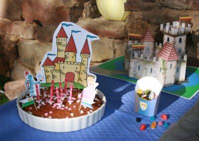 Une Chasse au Trésor - princesse chevalier - décoration gâteau