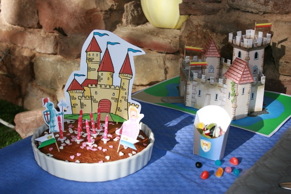 chasse au trésor princesse chevalier - décoration gâteau - Une Chasse au Trésor