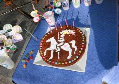 Une Chasse au Trésor - princesse chevalier - décoration pochoir gâteau