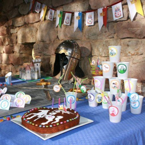 Une Chasse au Trésor - princesse chevalier - décoration table