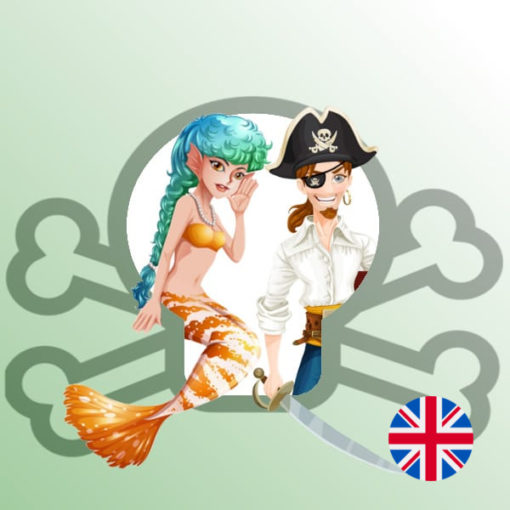 Une Chasse au Trésor en anglais - pirate sirène 6 ans, pirate sirène 7 ans